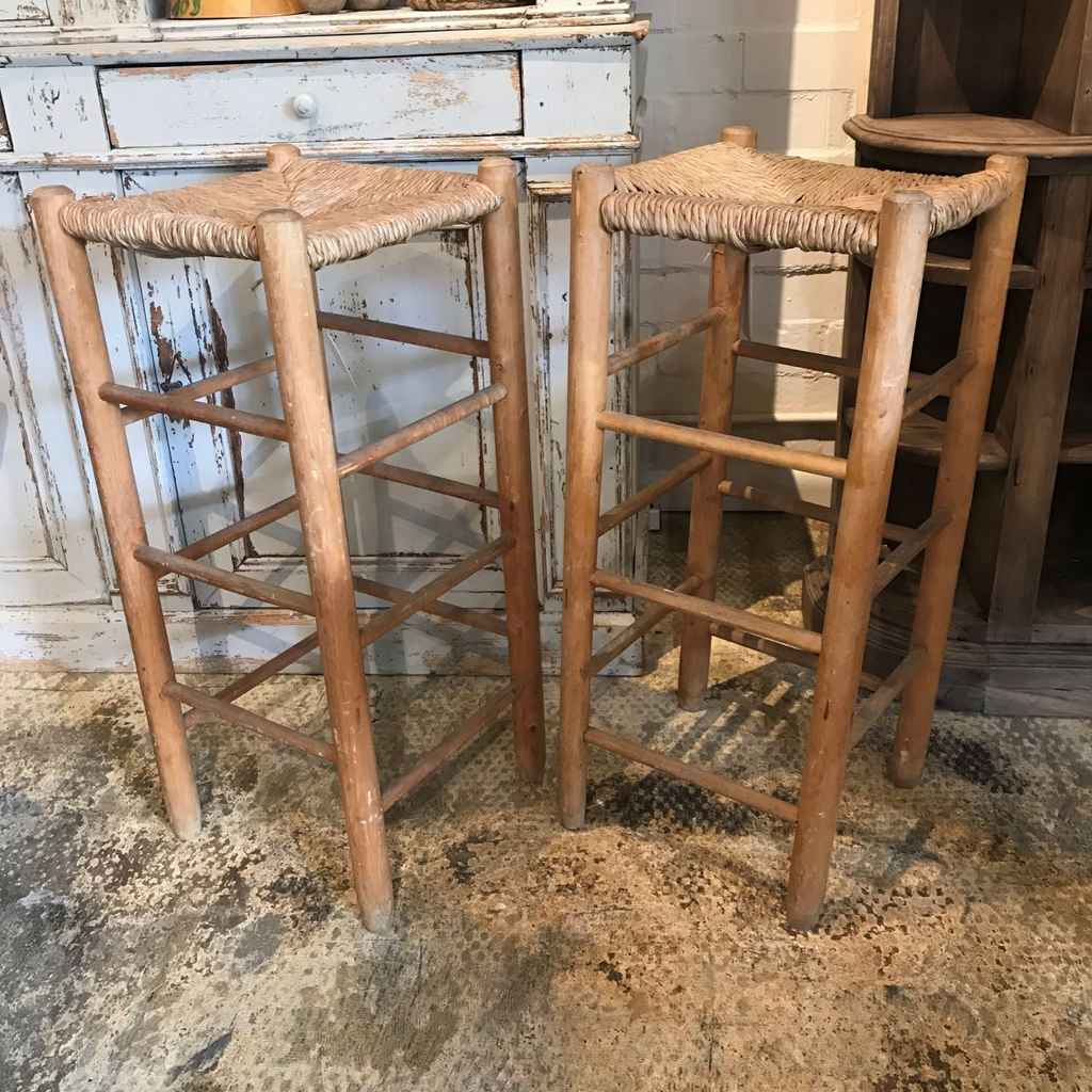 Tall Straw Stool