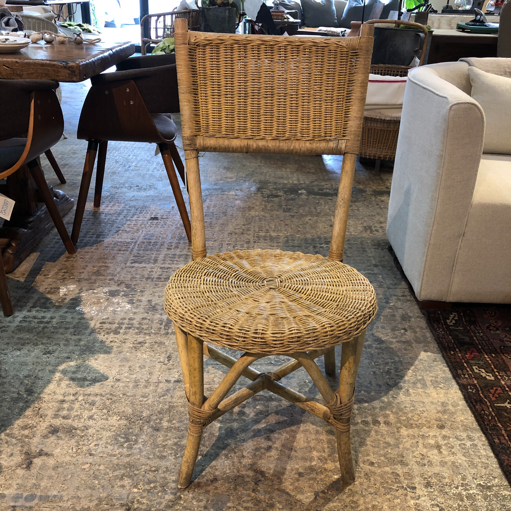 French Rattan/ Wicker Bistro Chair