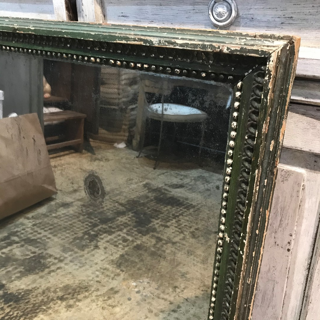 Green Mercury Glass Mirror