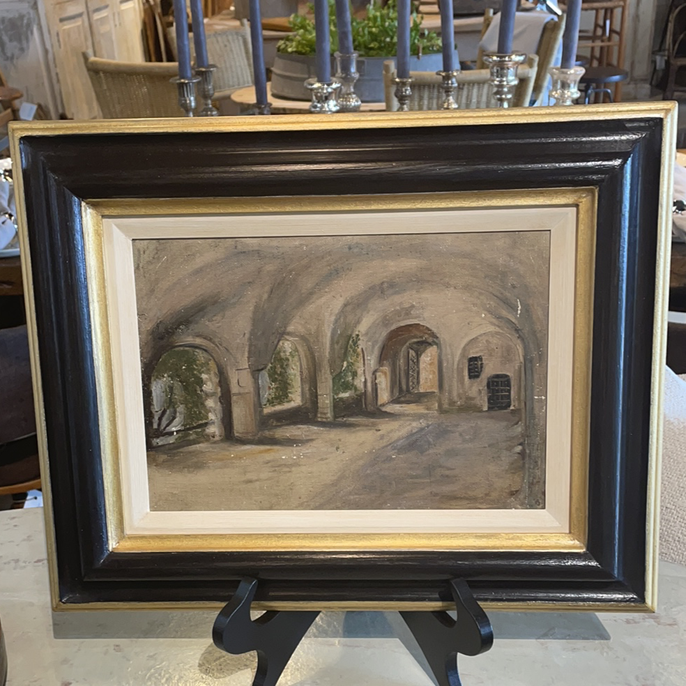 """Arches"" Oil on Board Black Frame"