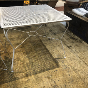 Square Metal Garden Table
