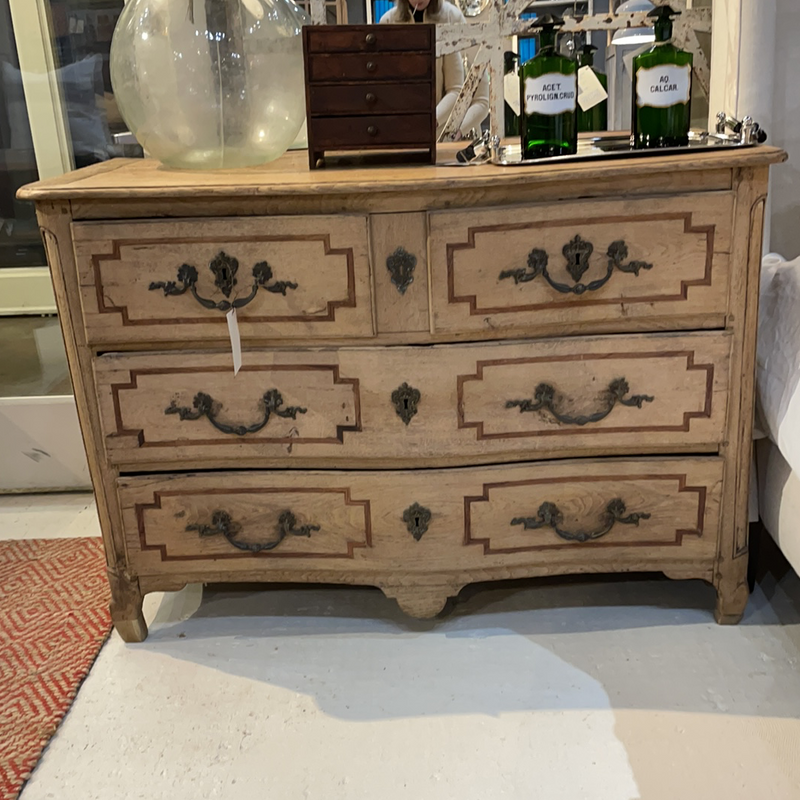 Oak Chest with Mahogany inlay