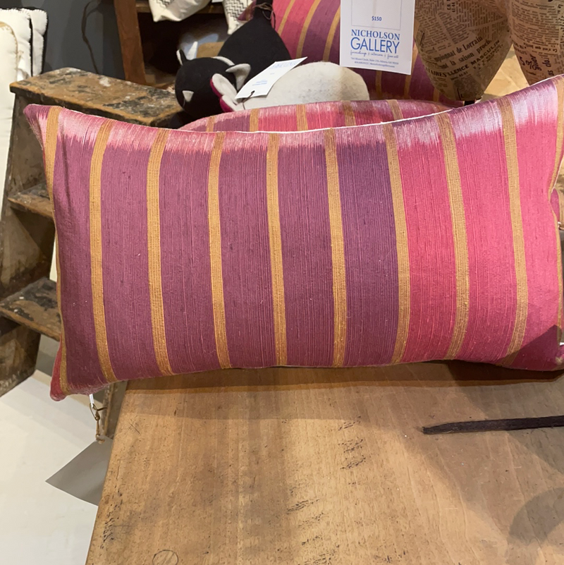 PInk Silk Ikat Pillow