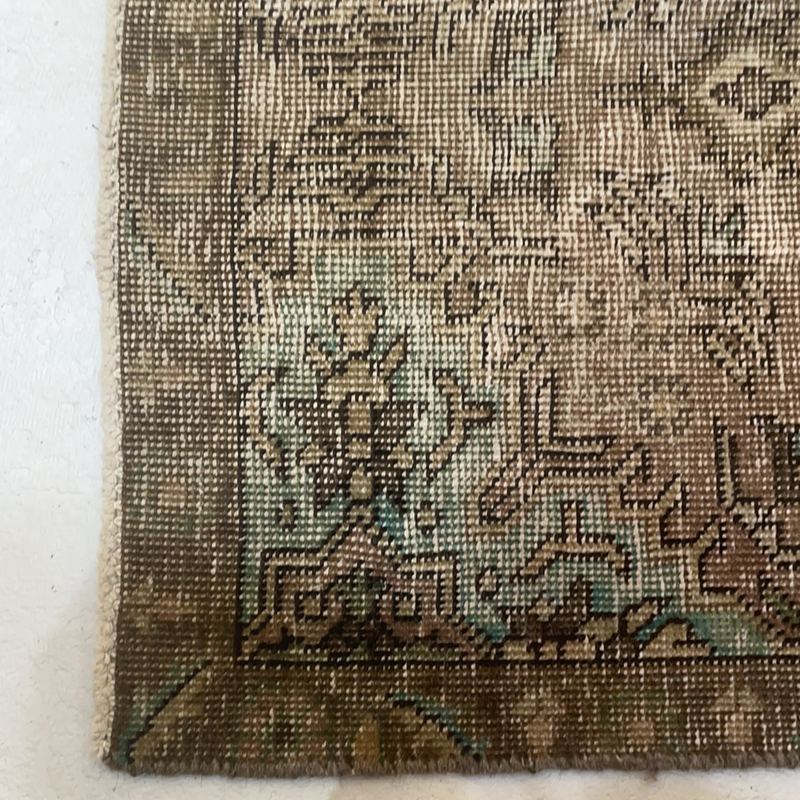 Brown and Mint Rug