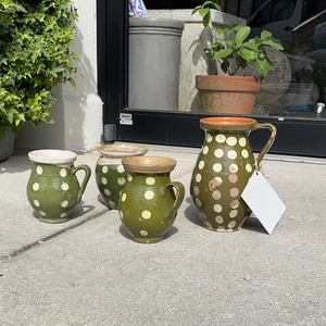Earthenware Vessel with Polka Dots