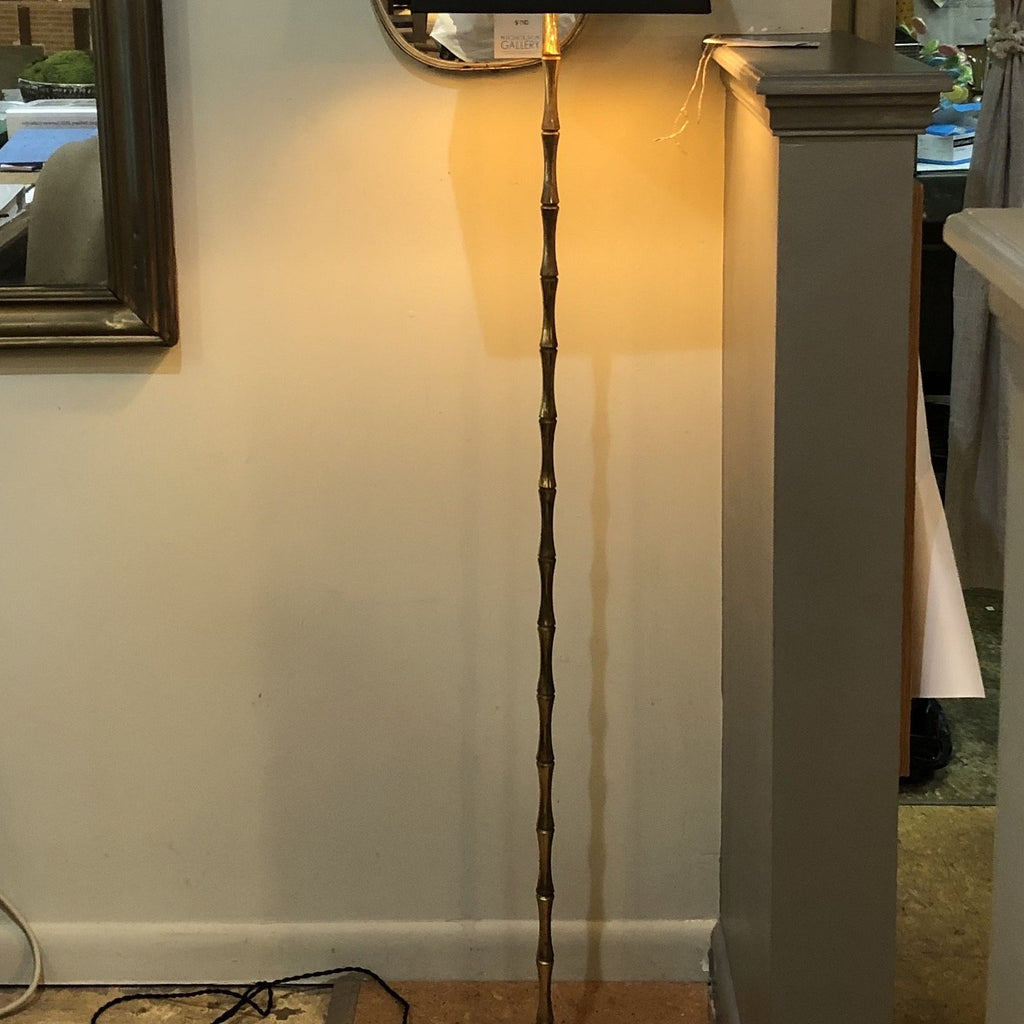 "Brass ""Bamboo"" Floor Lamp"