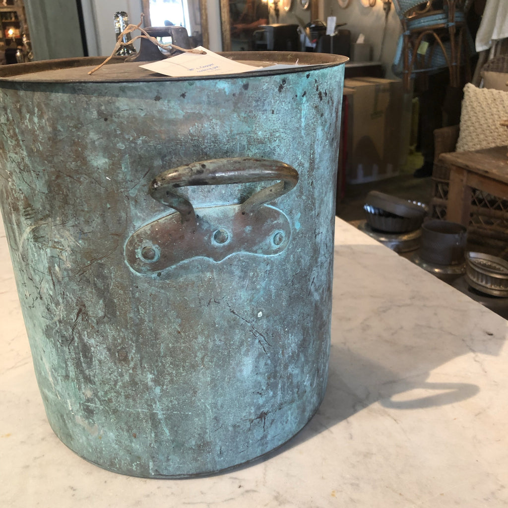 19th c. Copper cooking pot