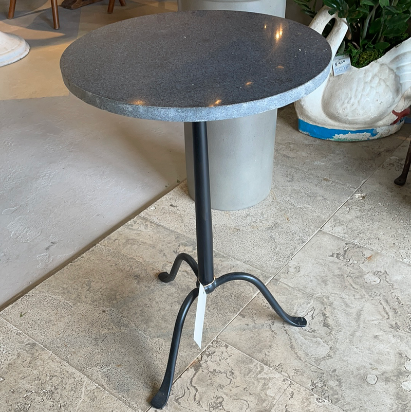 Stone Iron Side Table