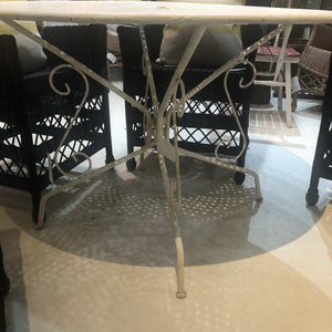 Round White Folding Garden Table