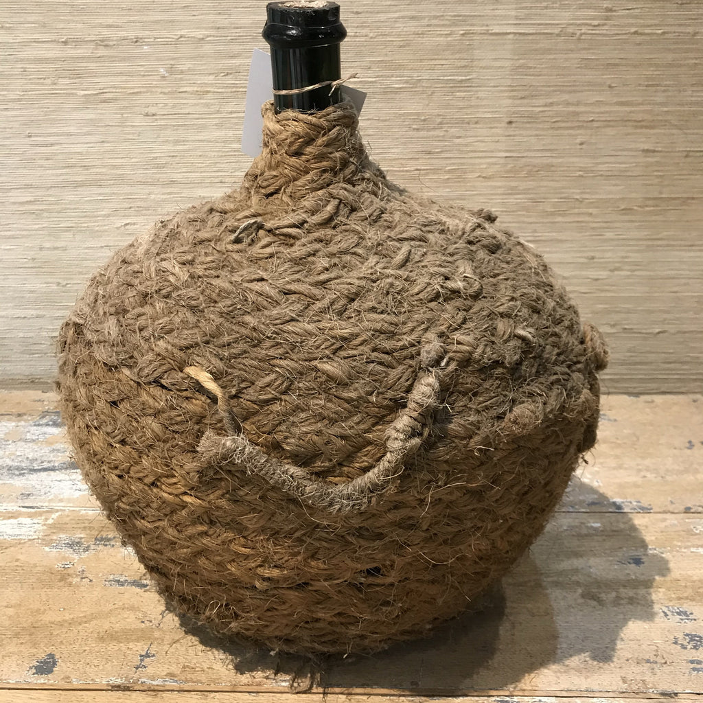 Straw Covered bottle (large)