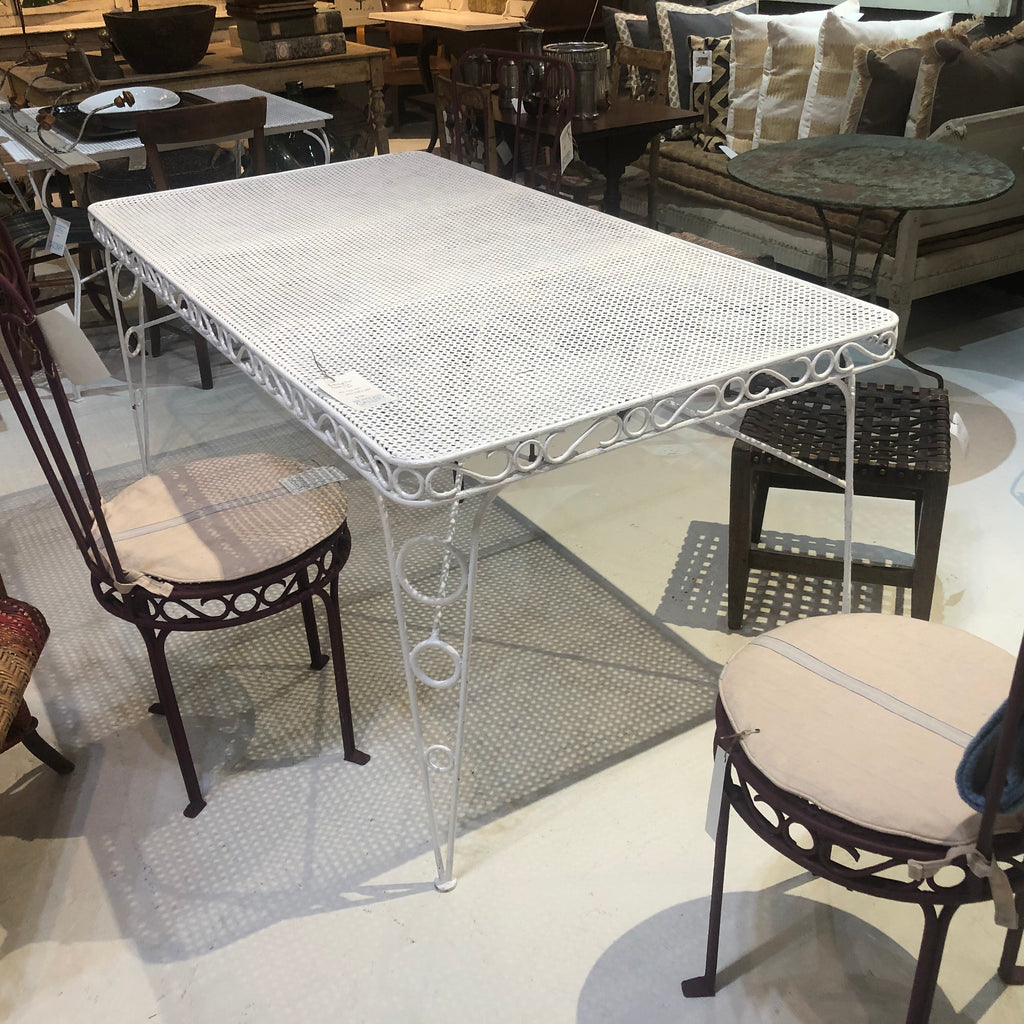 Perforated Iron Garden Table