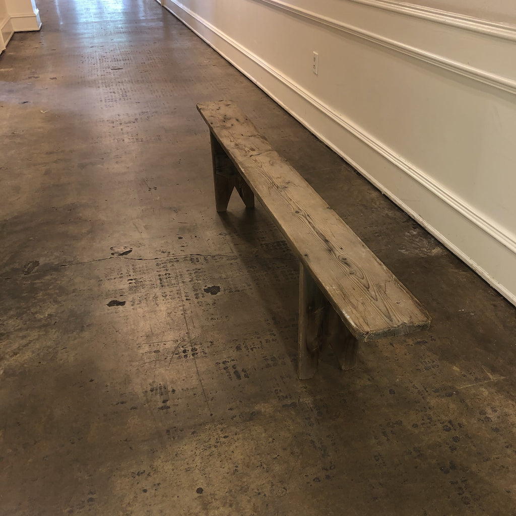 Long Rustic Bench