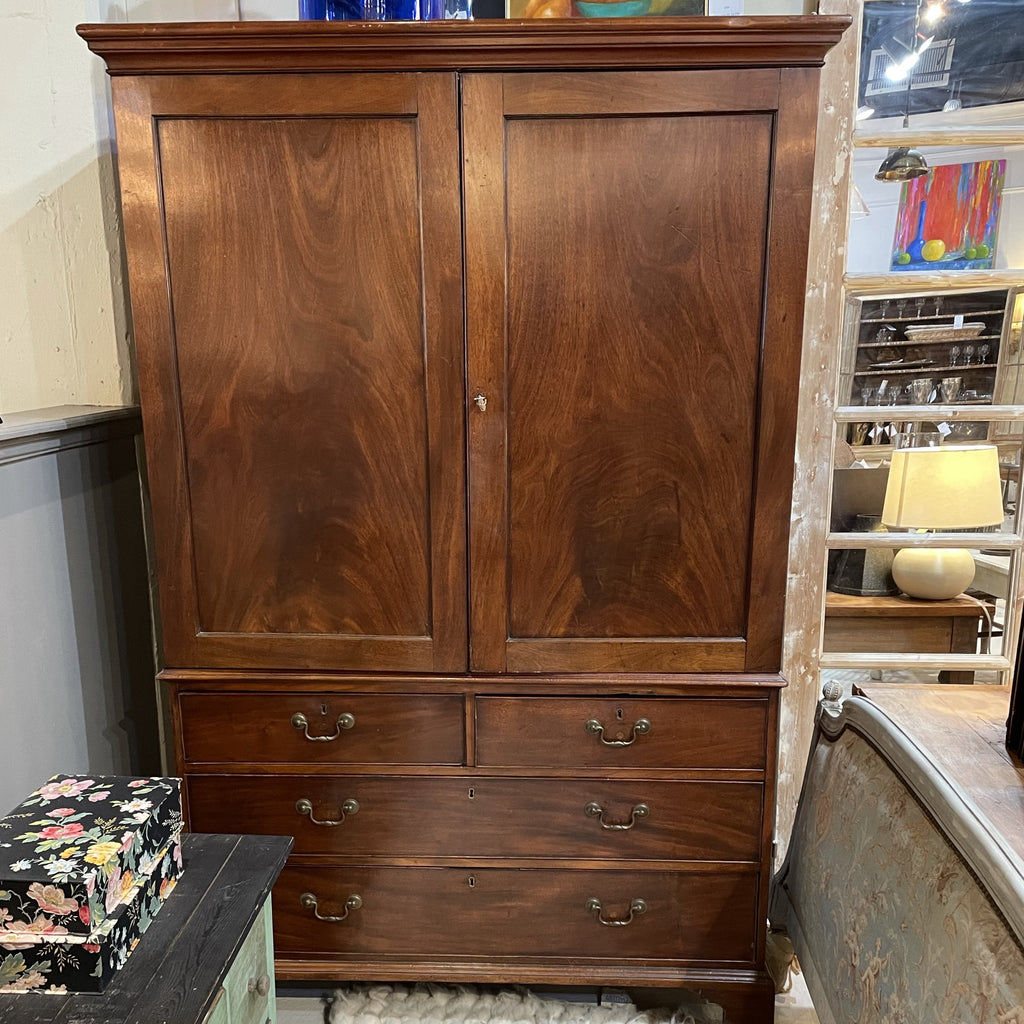 Walnut Linen Press