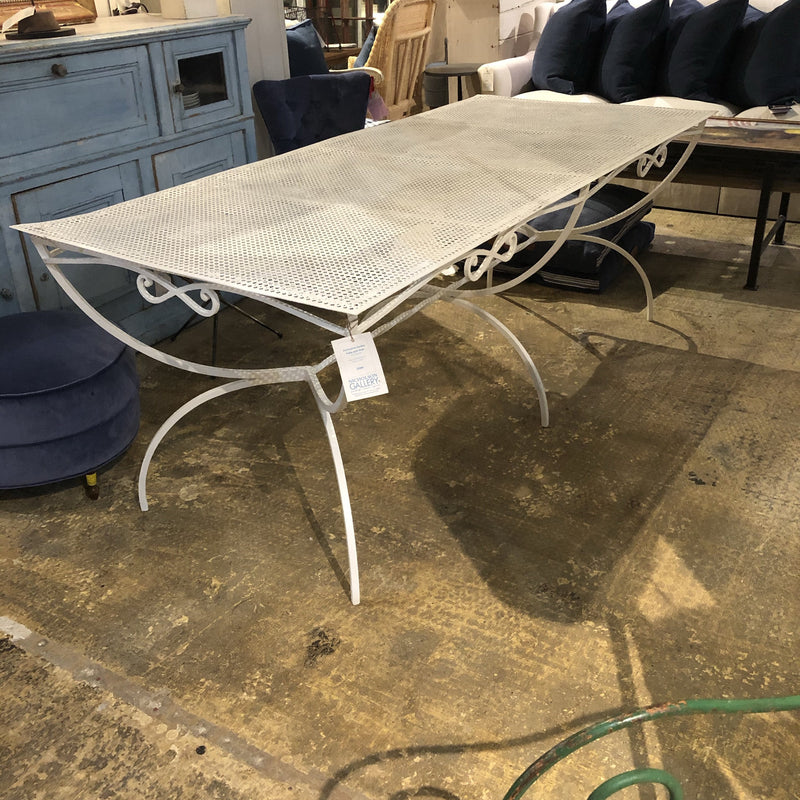Perforated Garden Table with Scroll Details