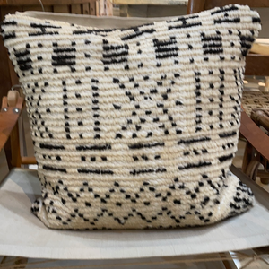 Black & Off White Graphic Pillow