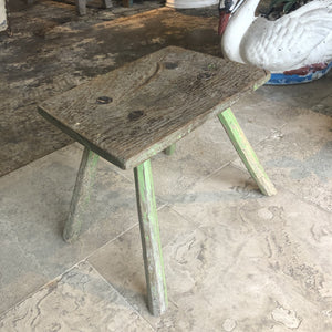 Primitive Green Stool