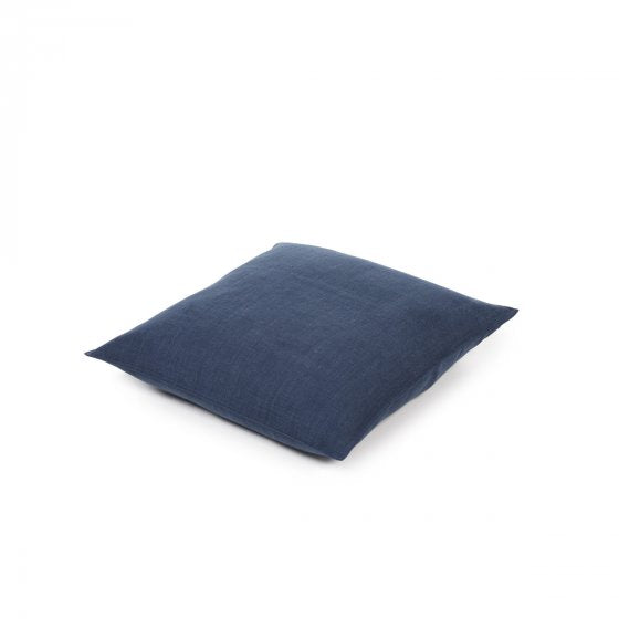 "Napoli Vintage Pillow  Cover    Navy    25""sq."