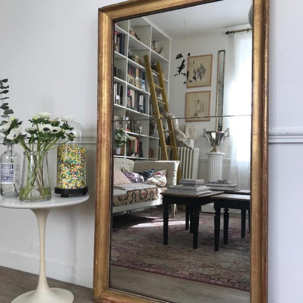 Large Gilt 2-Part Mercury Mirror