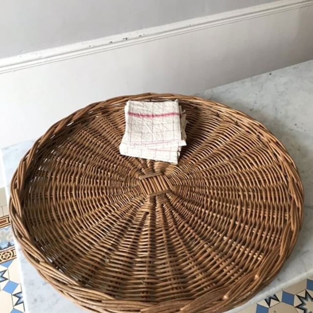 Huge Round Wicker Tray