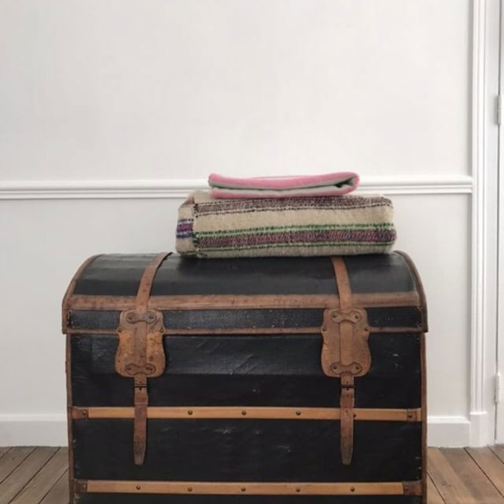 Canvas and Leather Trunk