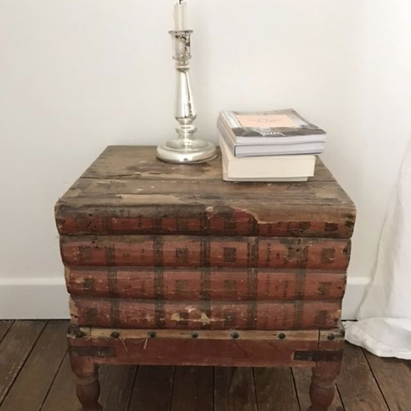 Faux Book Stack Stool/Table