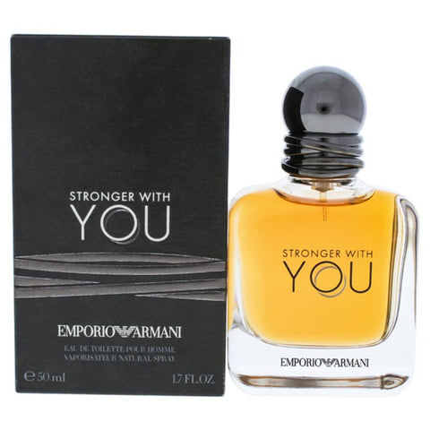 Emporio Armani Stronger with You Eau De Toilette Spray, Cologne for Men, 3.4 oz