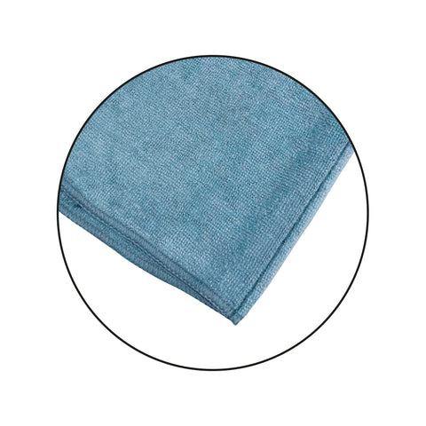 blue microfibre cloth for car