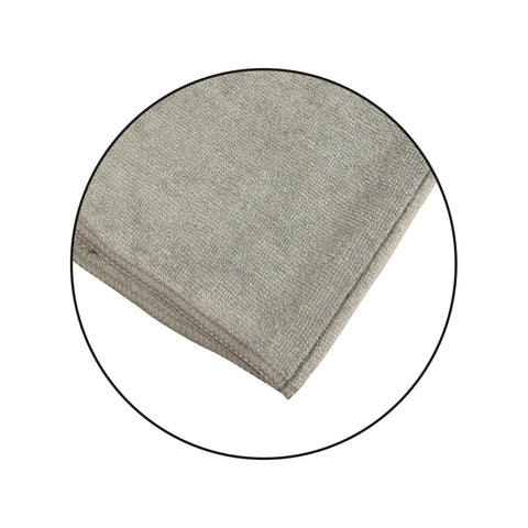 grey microfibre cloth for car