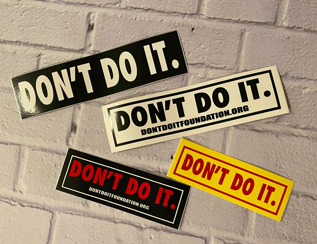 VINTAGE Don't Do It Consolidated Stickers (4-pack)