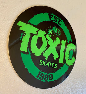 "Toxic Skates 4"" Sticker"