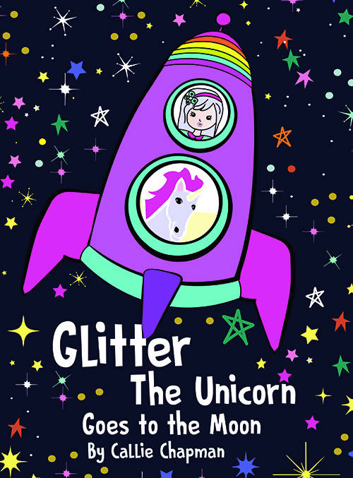 Glitter the Unicorn goes to the Moon