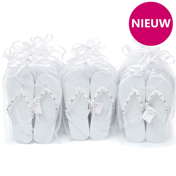 teenslippers elegante parel