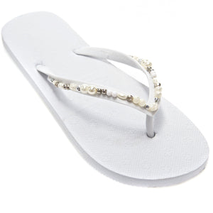 elegante slippers wit