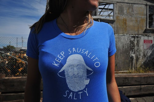 Keep Sausalito Salty T-Shirt/ Womens