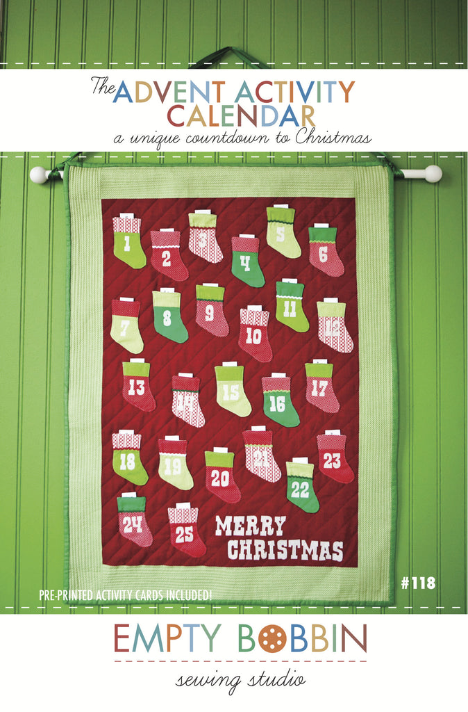 Advent Activity Calendar Sewing PDF Pattern