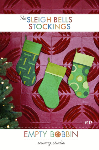 Sleigh Bells Christmas Stocking PDF Pattern