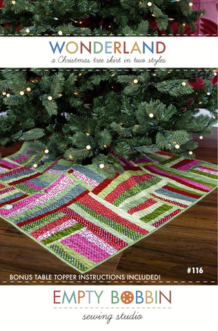 Wonderland Christmas Tree Skirt PDF Pattern