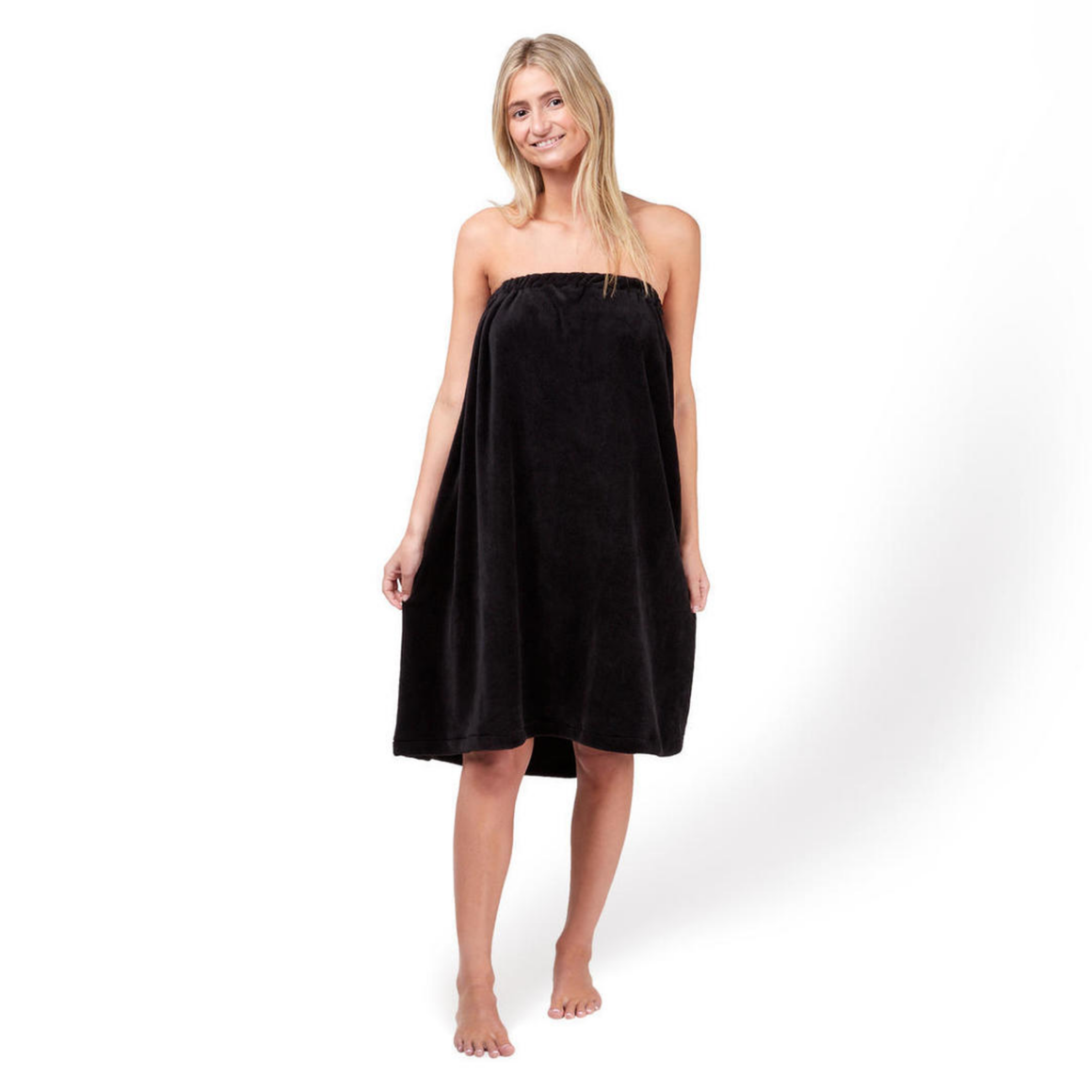 BODY WRAP BLACK MICROFIBRE - ONE SIZE