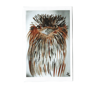 FROGMOUTH MICK GREETING CARD / RACHEL CARROLL ARTIST