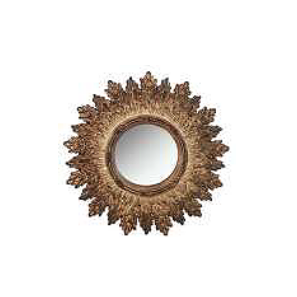 LION'S TONGUE MIRROR IN ANTIQUE GOLD