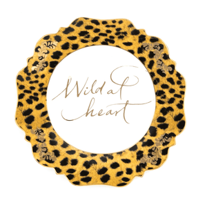 LEOPARD PRINT ' WILD AT HEART' SIDE PLATE