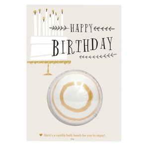 HAPPY BIRTHDAY BATH BOMB GIFT CARD
