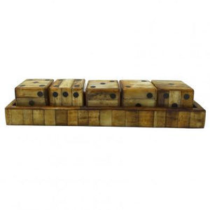 Reno Dice and Tray Natural Bone