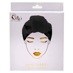 HAIR TURBAN - BLACK / MICROFIBRE