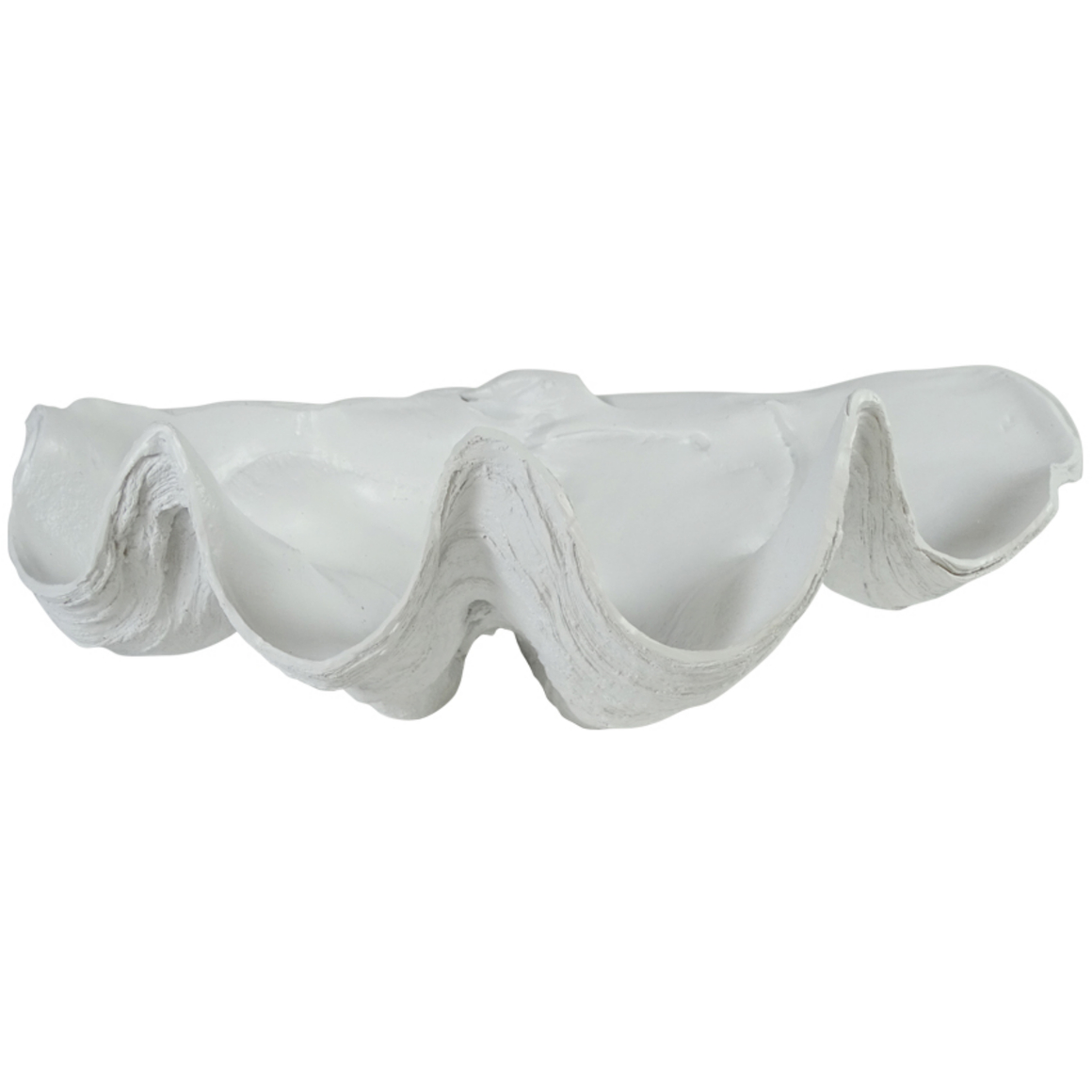CLAM SHELL MATTE WHITE 40CM