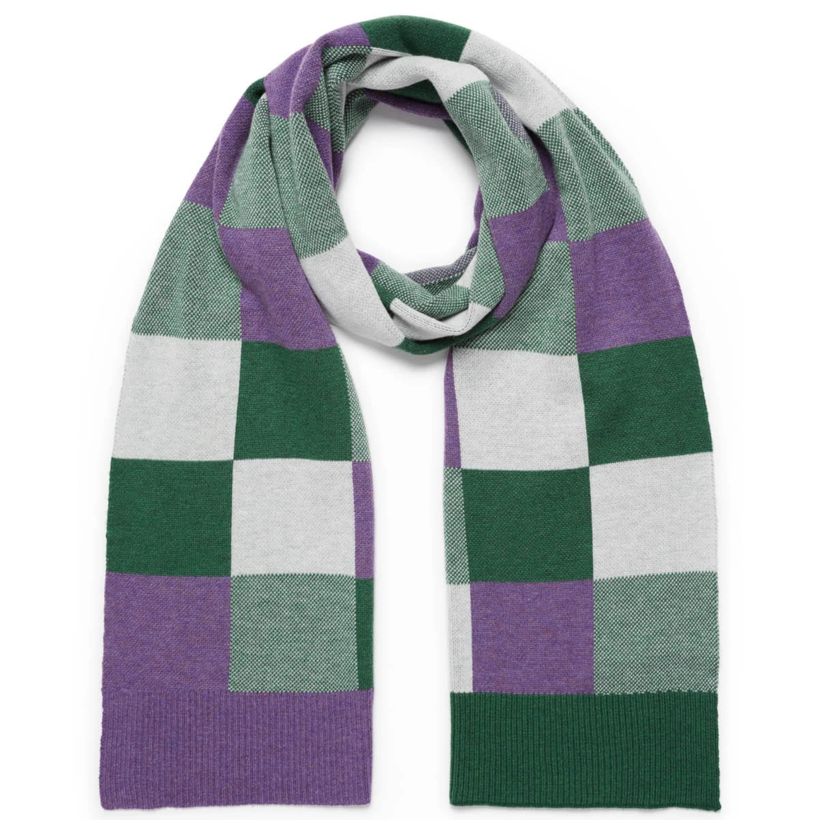 CHECKERS SCARF - BASIL CHECK