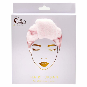 HAIR TURBAN - PINK / MICROFIBRE