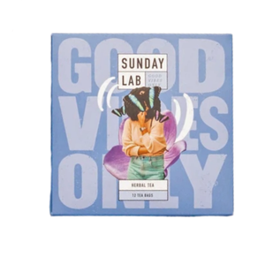 GOOD VIBES ONLY/CHAMOMILE, LAVENDER, PASSION FRUIT  BOX 12 TEA BAGS