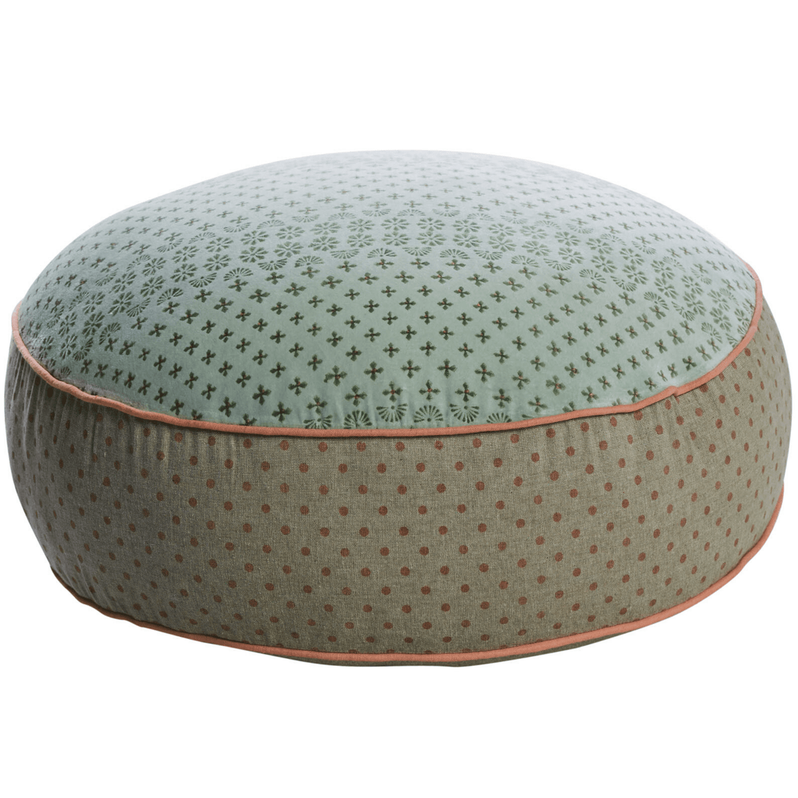 FLOOR POUFFE - BEAUTIFUL HAND BLOCK PRINTED & EMBROIDERED - Bowerbird on Argyle