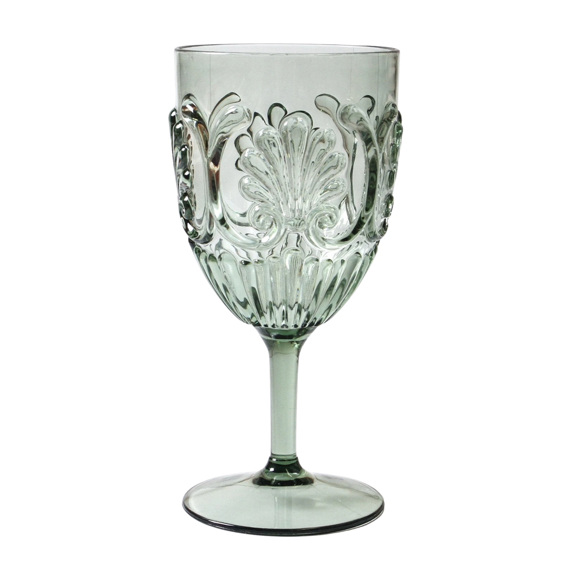WINE GLASS ACRYLIC GREEN / STYLISH & STURDY